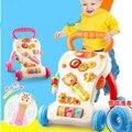 1-3 лет ребенок ходок тележки игрушки детские музыка многофункциональный ребенок учится ходить губернатор вальке