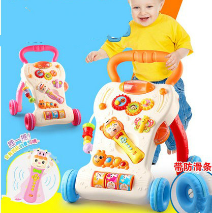 1-3 years old baby walker trolley toys children's music multifunctional baby learning to walk governor walke от Aliexpress INT