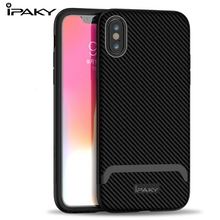 IPAKY For Iphone XS Max Case TPU Silicone Shockproof Cover 9 2018 5.8 XR 6.1 Hybrid PC bumper Full max