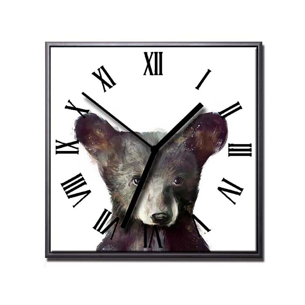Toile Peinture Bière Animaux Affiches et Gravures Mur Horloges Art Moderne Décor À La Maison Horloge Photos pour Salon Décor décoration