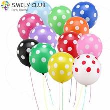 100pcs 12inch Latex Inflatable Balloons Polka Dot Colorful Wedding Birthday Party Balloons Decoration Globo Air Balls Baloons