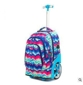 Image 2 - Trolley Backpacks Bags For Teenagers 18 Inch School Wheeled Backpack For Girls Backpack On Wheels Children Luggage Rolling Bags
