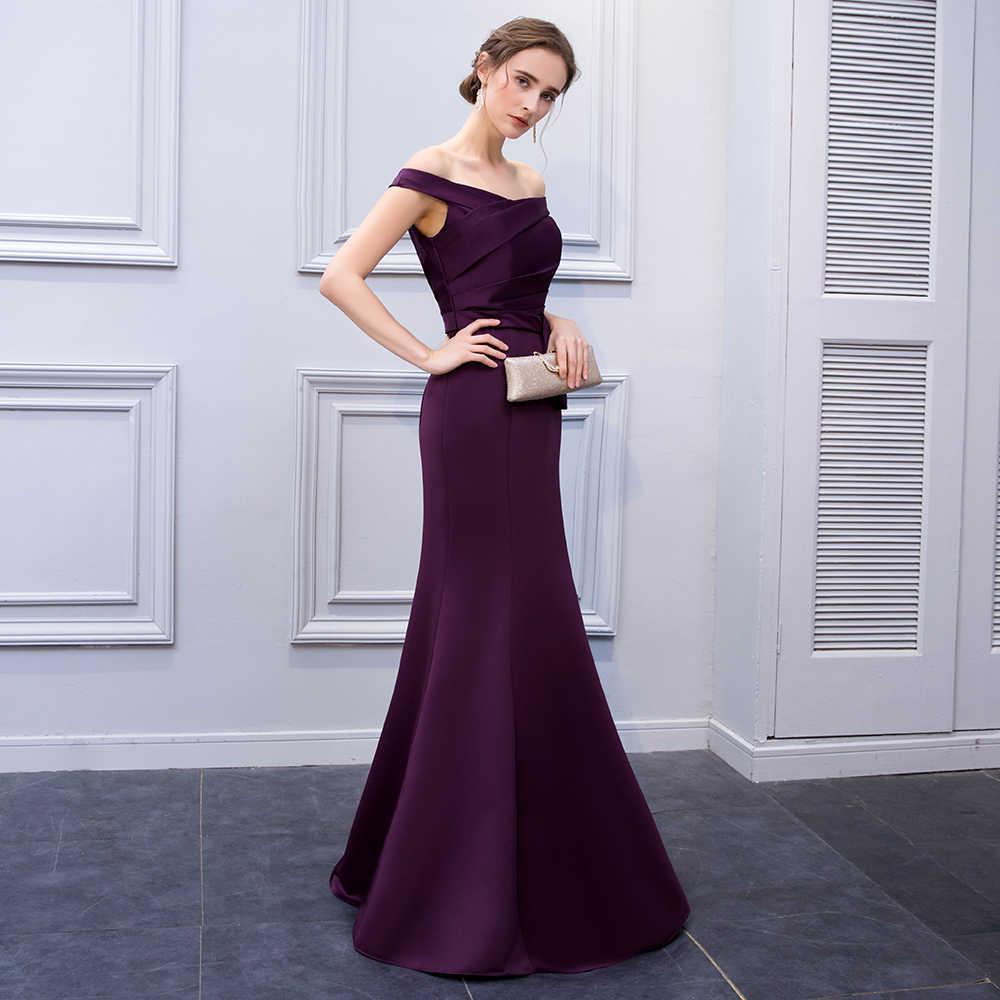Mermaid Purple Satin Evening Dresses