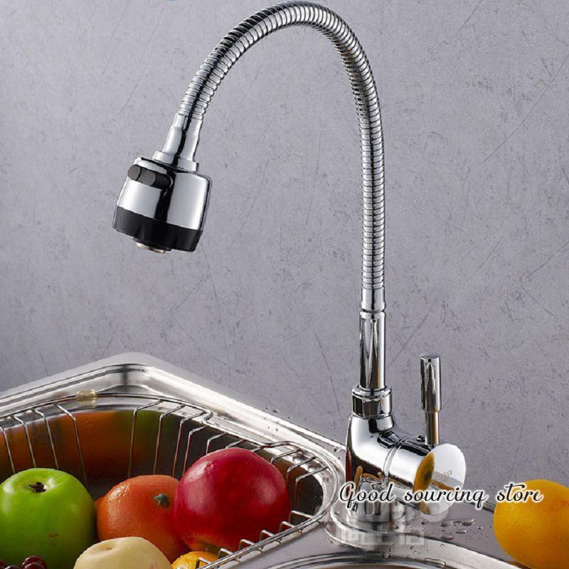 contemporary ceramic valve single hole brass kitchen mixer faucet
