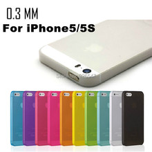 In Stock Case Cover Protector for Apple iphone 5 5S SE S 0.3mm Ultra Thin Slim Matte camera hollow not show fingerprint retail(China)