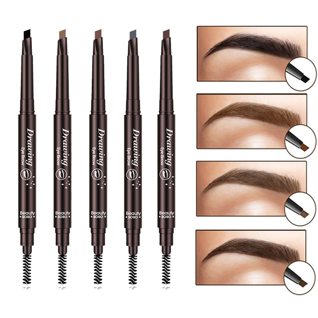 EyeBrow Pencil Cosmetics Makeup Tint Natural Long Lasting Paint Tattoo Eyebrow Waterproof Black Brown Eye brow Makeup Set Beauty