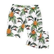Для маленьких мальчиков купальники с принтом ананаса плавательные шорты для серфинга пляжные купальные брюки спортивные шорты для мужчин трусы для Для мужчин папа
