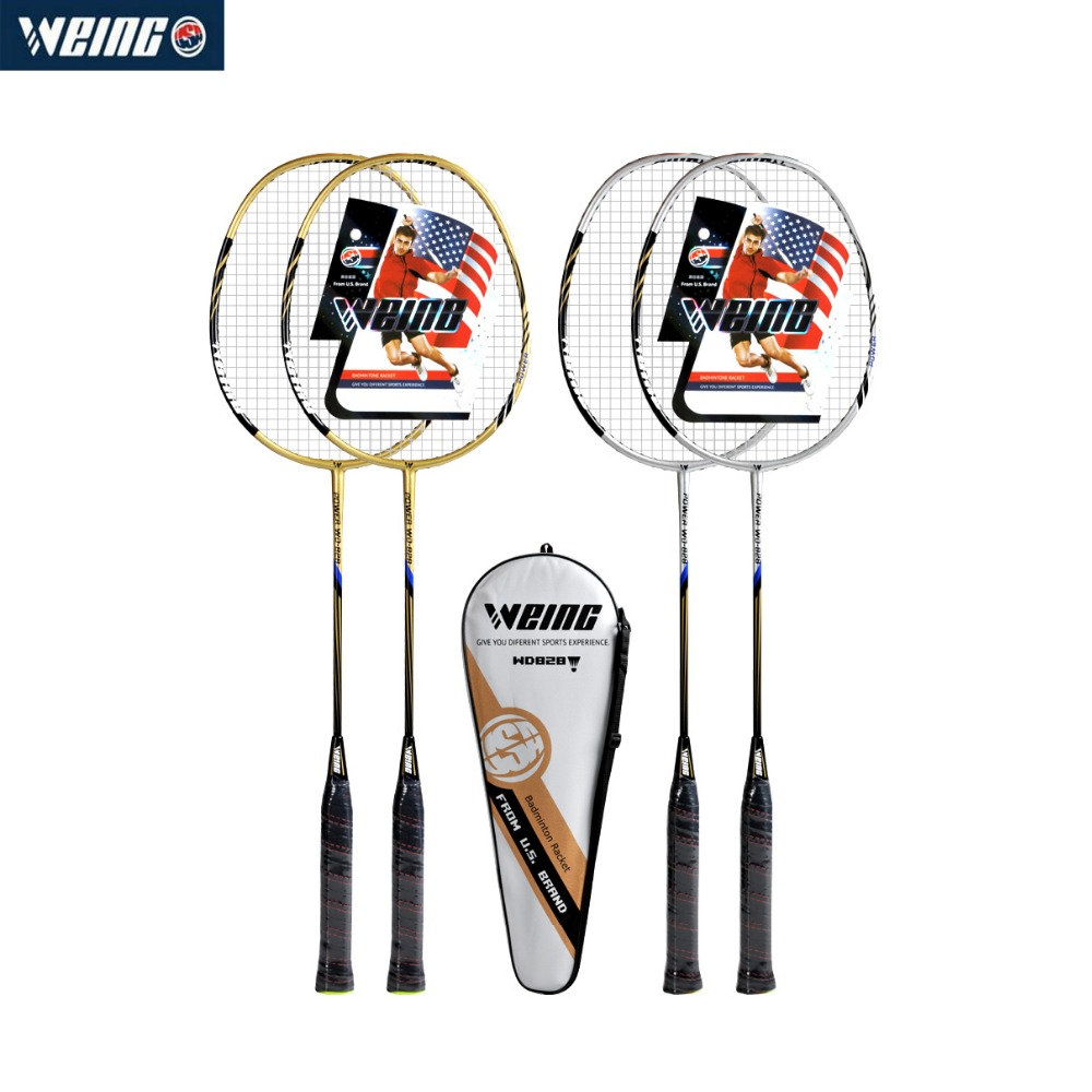 WEING WD-828 1Pair Durable Speed Badminton Racket Battledore Racquet With String For Adult