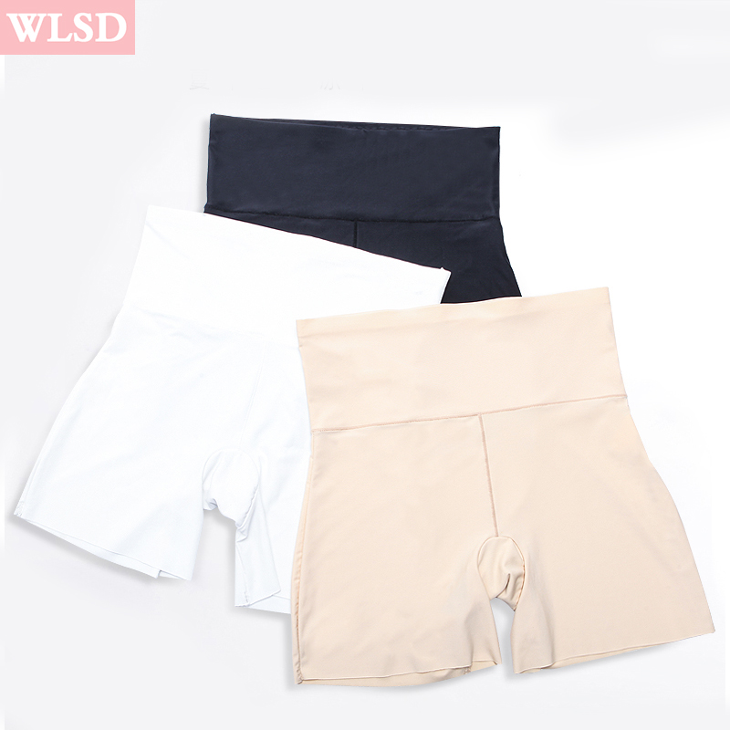 WLSD WLSD Summer Hot Safety Shorts Ice Silk Sexy underwear High Waist Seamless short for woman Ladies Girls Casual Boxer Shorts