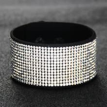 Itenice Fashion Jewelry High Quality Handmade Sparkling Crystal Rhinestone Double-Safety-Clasp Irregular Bracelets For Women