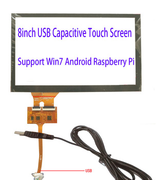 8inch USB Touch Screen 193*116mm FPC Middle USB contrller Board Support Win7 Raspberry Pi Android LInux Support Tn64 And More image