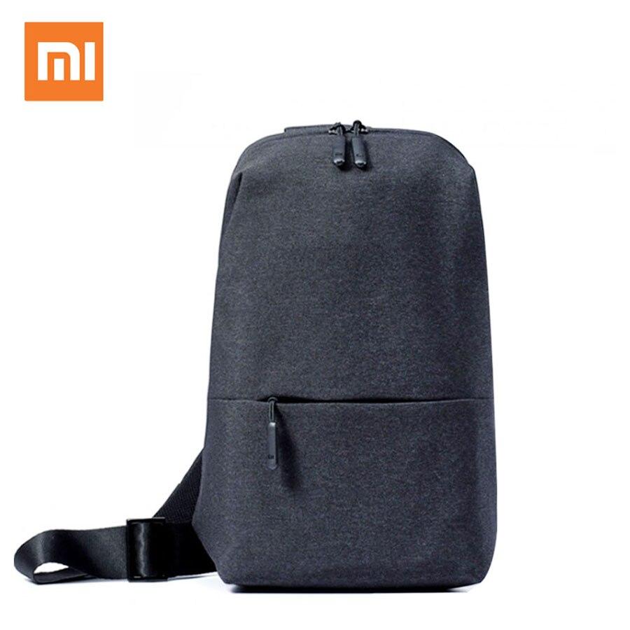 In Stock Original Xiaomi Mi Backpack Small Size Shoulder Type Unisex Rucksack Urban Leisure Chest Pack Bag For Men Women