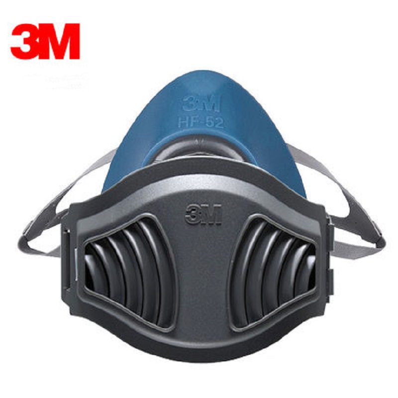 3M HF-52 Gas Mask Respirator Polish Mining Woodworking New Upgrade 1705CN Particulates Filters Silica Gel Pollen Fumes Dust Mask