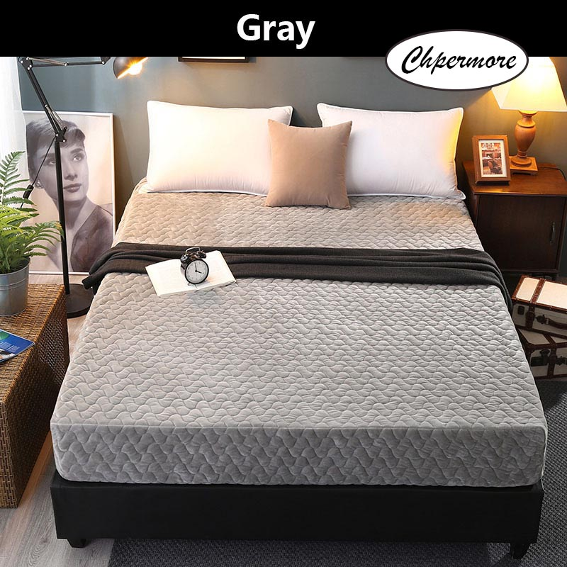Chpermore Thick Warm Crystal Velvet Mattresses 1.8m Foldable Tatami Washable Mattress Cover Mat King Queen Size