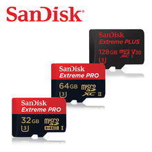 D'origine Sandisk Extrême PLUS microSD 32 GB UHS-I Carte microSDXC 64 GB 128 GB class10 95 MB/s