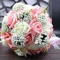 Novia que sostiene las flores, Nueva llegada de Boda Romántico de La Novia Colorida's Bouquet, rojo rosa azul y púrpura ramos de novia \ púrpura