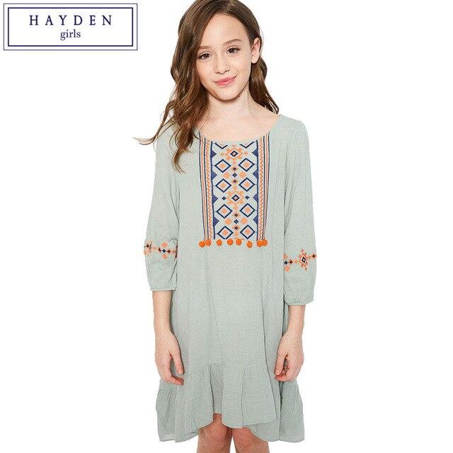 c9a595aa02 HAYDEN Sukienki dla Dziewczynek W Wieku 11 12 13 10 Lat Dziewczyna Odzież  2017 Moda Marka