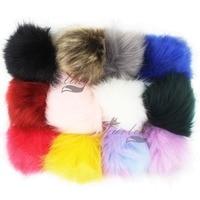 190f7ce17a Furling DIY 12 PCS Fluffy Faux Fox Fur Pom pom Ball 12cm Handbag Car  Keychain Accessories