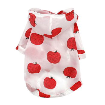 Dog Raincoat Sun-proof Clothing Summer Sun Protection Hoodie Small Dog Clothes Print Poncho For Small Medium Pets Puppy Cat 2
