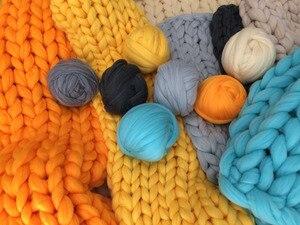 Image 4 - Fil à tricoter, bras Super épais, couverture, fil volumineux, Imitation laine mérinos, 1000g par balle, cadeau de noël