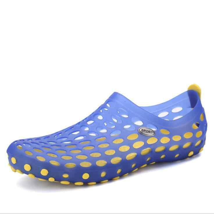 إمرأة/رجل صندل مسطح 2018 الصيف شاطئ نصف مغلقة الأصابع الصنادل Zapatos موهير Zapatos دي hombre امرأة/الرجال أحذية ماء الانزلاق