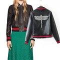 O Novo Inverno 2016 Jaqueta De Couro Definir Manualmente Trado Senhora Casaco De Pele de Moda Senhora Jaquetas de Couro Da Motocicleta