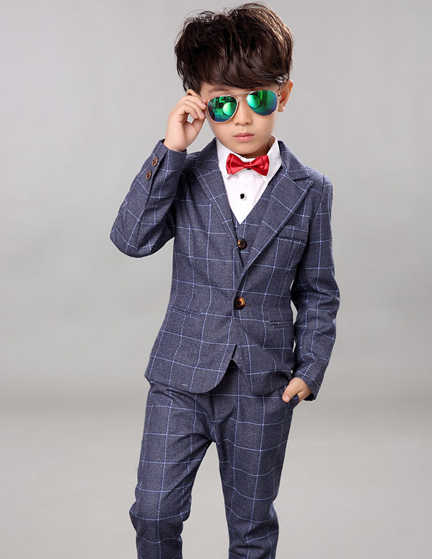 2017 Boys Wedding suits 3 pieces Vest Pant Blazer Jacket Set Kids ...