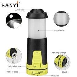 Sanyi Mini Tragbare Laterne 5 Modi LED Versenkbare Zelt Licht Wasserdichte Hängen Haken Magnetische Taschenlampe Für Notfall Camping