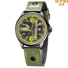 Marca de moda EYKI Reloj de Cuarzo de Los Hombres Correa de Cuero Reloj Militar Impermeable Casual Sport reloj de pulsera Para Hombre Reloj Al Aire Libre