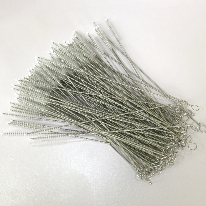 DHL 2000pcs Straw Cleaning Brush Stainless Steel Wash Drinking Pipe Straw Brushes Brush Cleaner