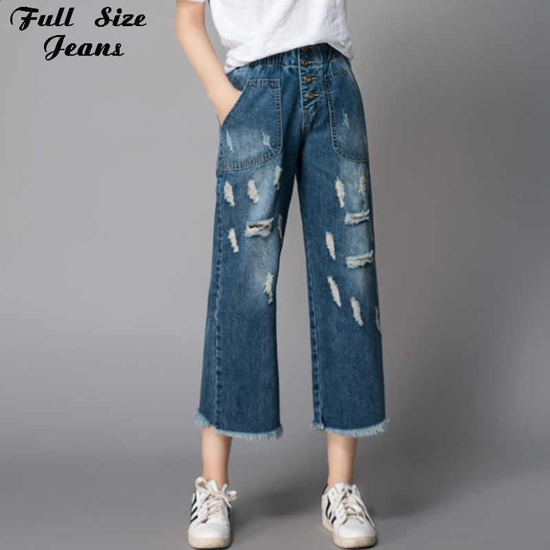 Compare Prices on Wide Leg Jean Capris Women- Online Shopping/Buy ...