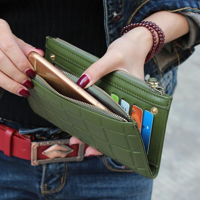 New Fashion Long Pu Women Wallet