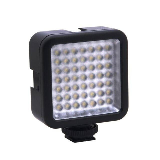 Mini DC 3V 5,5 W 49 LED cámara de vídeo Panel de luz lámpara 6000K para Canon Nikon DSLR Cámara videocámara DVR DV fotografía