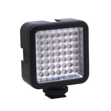 Mini DC 3V 5.5W 49 LED kamera wideo Panel świetlny lampa 6000K dla Canon Nikon DSLR kamera kamera DVR DV fotografia