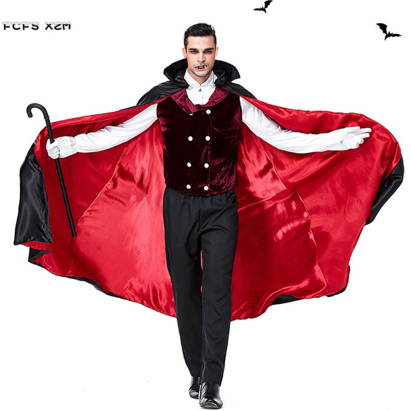 Nouveaux hommes Halloween Vampire costumes Dracula effrayant Cosplays pourim carnaval parade discothèque Bar mascarade masqué bal fête robe