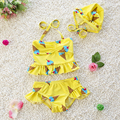Swimwear Baby Girlswimsuits Girls 3 Pieces Kids Bikini Sets Fashion Summer Children Swimsuit Baby Girls 1-2Y CHILDREN'S SWIMWEAR