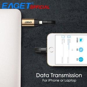 Image 4 - Eaget i90 usb flash drive usb 3.0 64 gb 128 gb 2 em 1 mfi certificou a vara da memória da carga da movimentação da pena de otg para o relâmpago para iphone