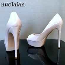 addd5be6 14 CM sandały na szpilkach buty marki buty na koturnach damskie szpilki  kobiety platformy Lady sandały