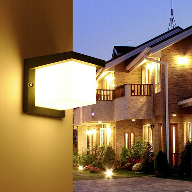 Outdoor Lamp 10W LED Wall Sconce Light Fixture Waterproof Building Exterior Gate Balcony Garden Yard waterproof cube led wall light 10w led wall sconce lamp led porch lights outdoor sconces exterior gate balcony garden yard