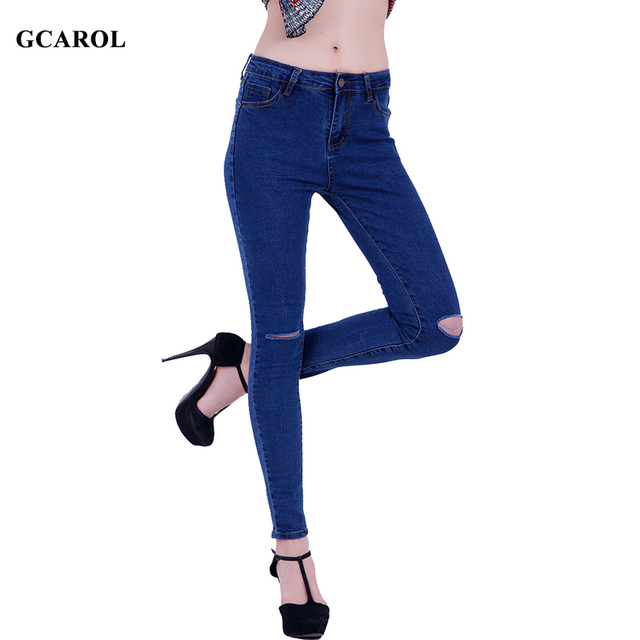 Women Trendy Ripped Denim Jeans Skinny Pencil Jeans Stretch Ladies'Sexy Streetwear Spring Summer Autumn Pants Plus Size 34