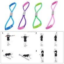 Домашний Спорт Фитнес Йога 8 Форма Тяговая веревка труба Оборудование Инструмент тренажерный зал упражнения ралли