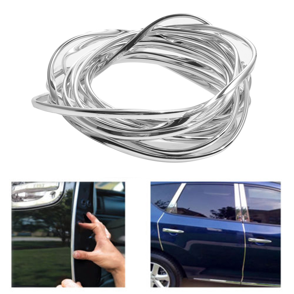 1pcs 6M Car Door Edge Guard Rubber Moulding Strip Trim Protector Cover White
