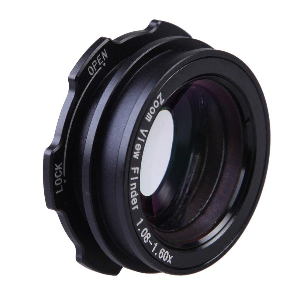 1.08x-1.60x Zoom visor lupa para Canon Nikon Pentax Sony Olympus Fujifilm Samsung Sigma DSLR cámaras