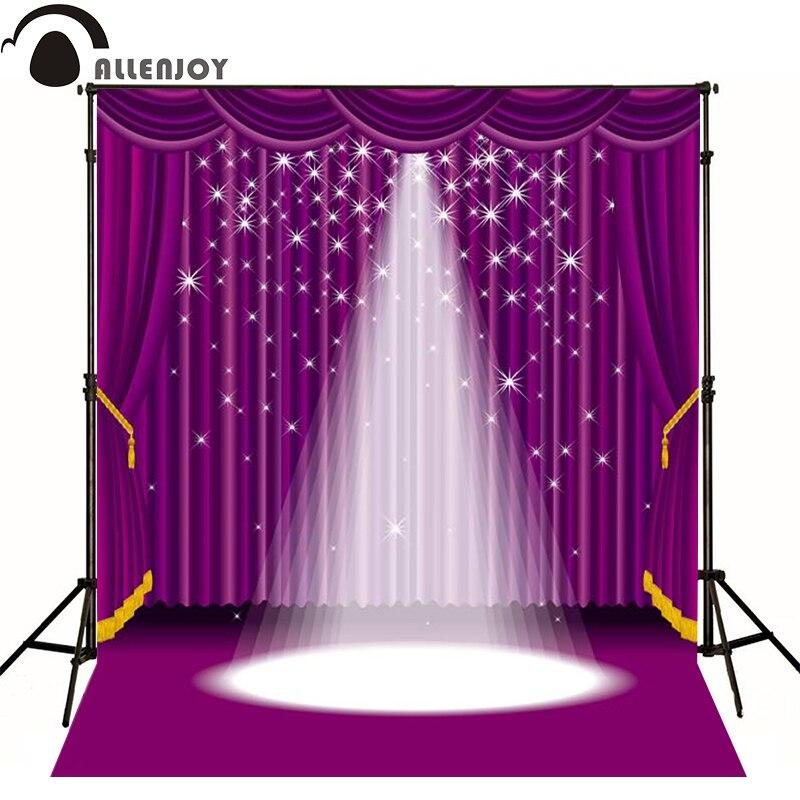 Allenjoy photographic background Purple lighting stage