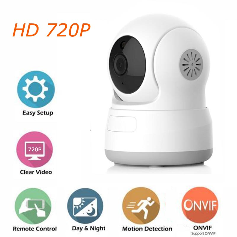 HD 720P IP Camera P2P WiFi Wireless Baby Monitor CCTV Home Security Camera with Night Vision Micro SD Card Slot 720p hd wifi camera p2p wireless baby monitor security camera cloud storage night vision camera compatible with sensor detector