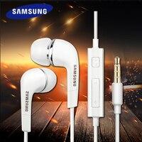 3/5/10/15/20 peças samsung ehs64 wired 3.5mm fones de ouvido com microfone para galaxy s8 s8edge s9 s9 + suporte teste oficial
