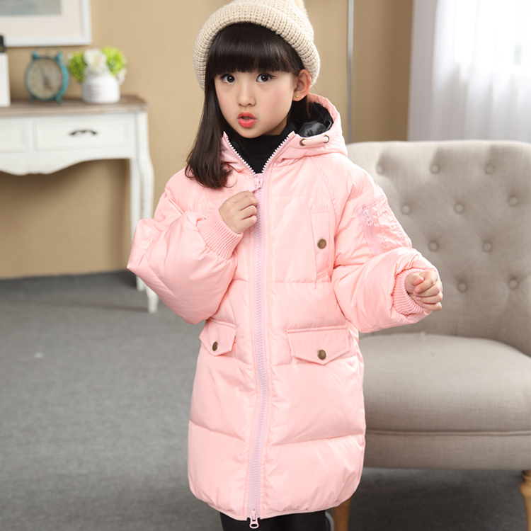 2016 Fashion Girl's Winter down Jackets Coats warm baby girl 80% thick duck Down Kids jacket Children Outerwears for cold winter casual 2016 winter jacket for boys warm jackets coats outerwears thick hooded down cotton jackets for children boy winter parkas
