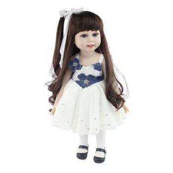 цена на WINCO 45cm Handmade Full Body Vinyl Reborn American Dolls Realistic Silicone Baby Girls Doll Toys for Children Christmas Gift