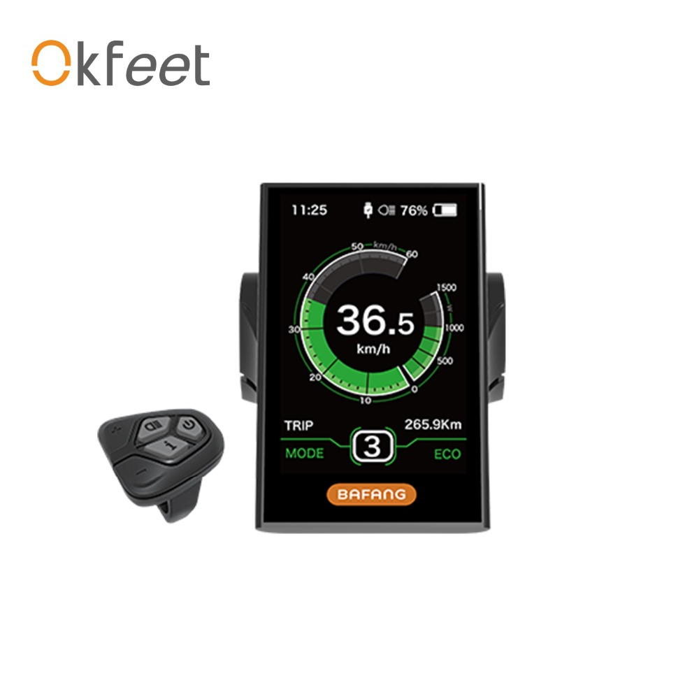 okfeet 8FUN Free Shipping BAFANG DPC18 DISPLAY WITH USB PORT FOR BAFANG BBS MID CENTRAL MOTOR