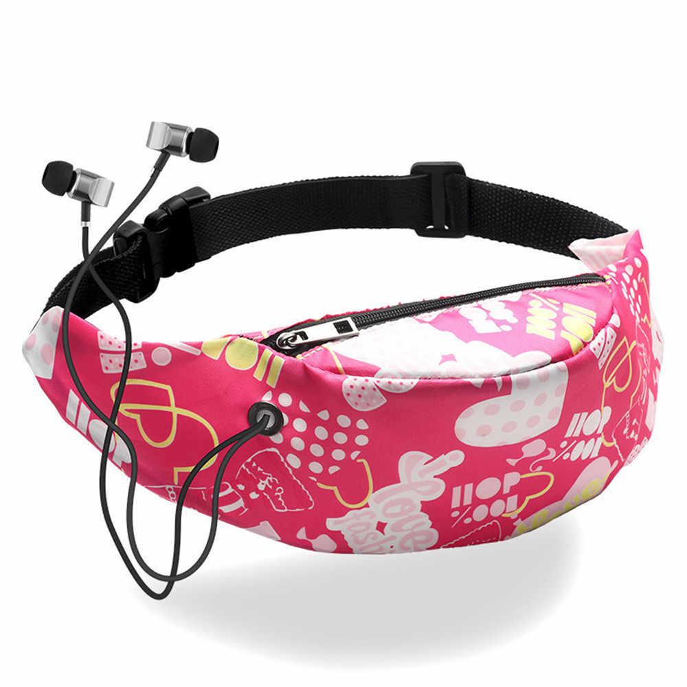 女性の防水キャンバス高品質ベルトバッグファニーパック女の子バッグ新ファッション携帯電話ポーチスポーツバッグ @ 3